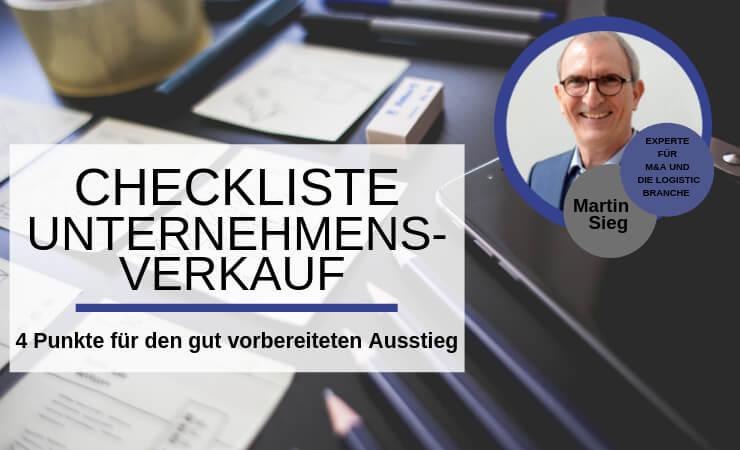 Checkliste: Vorbereitung auf den Unternehmensverkauf
