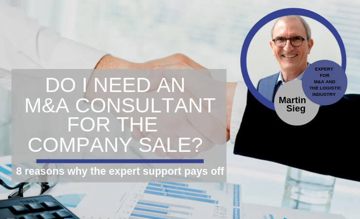 Do I need an M&A consultant for the company sale?